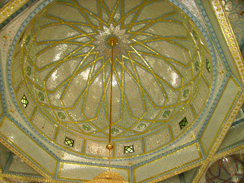 Close-up of magnificent dome in Mazaar Sharif - Hazrat Khwaja Zinda Pir Sahib (RA)