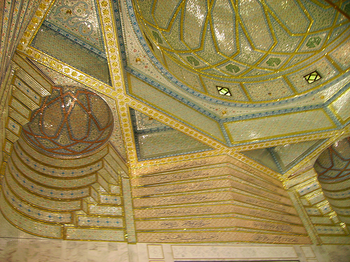 Mazaar Sharif - Hazrat Khwaja Zinda Pir Sahib (RA) - Internal view of domes