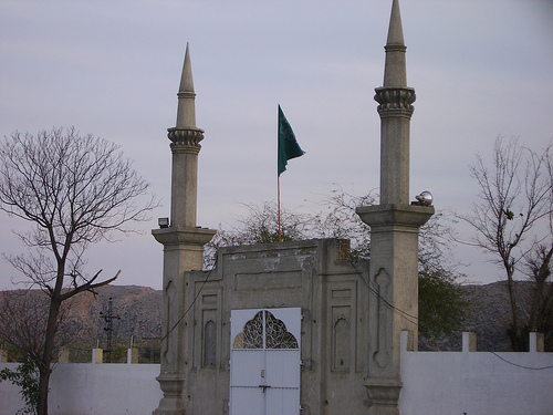 This is the main gate of Darbar-e-Alia Ghamkol Sharif, Kohat